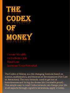 the codex of money