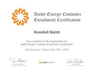 Ambit Energy Basictech Certifacate